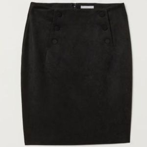 H&M Skirts - NWT H&M Black, faux suede skirt